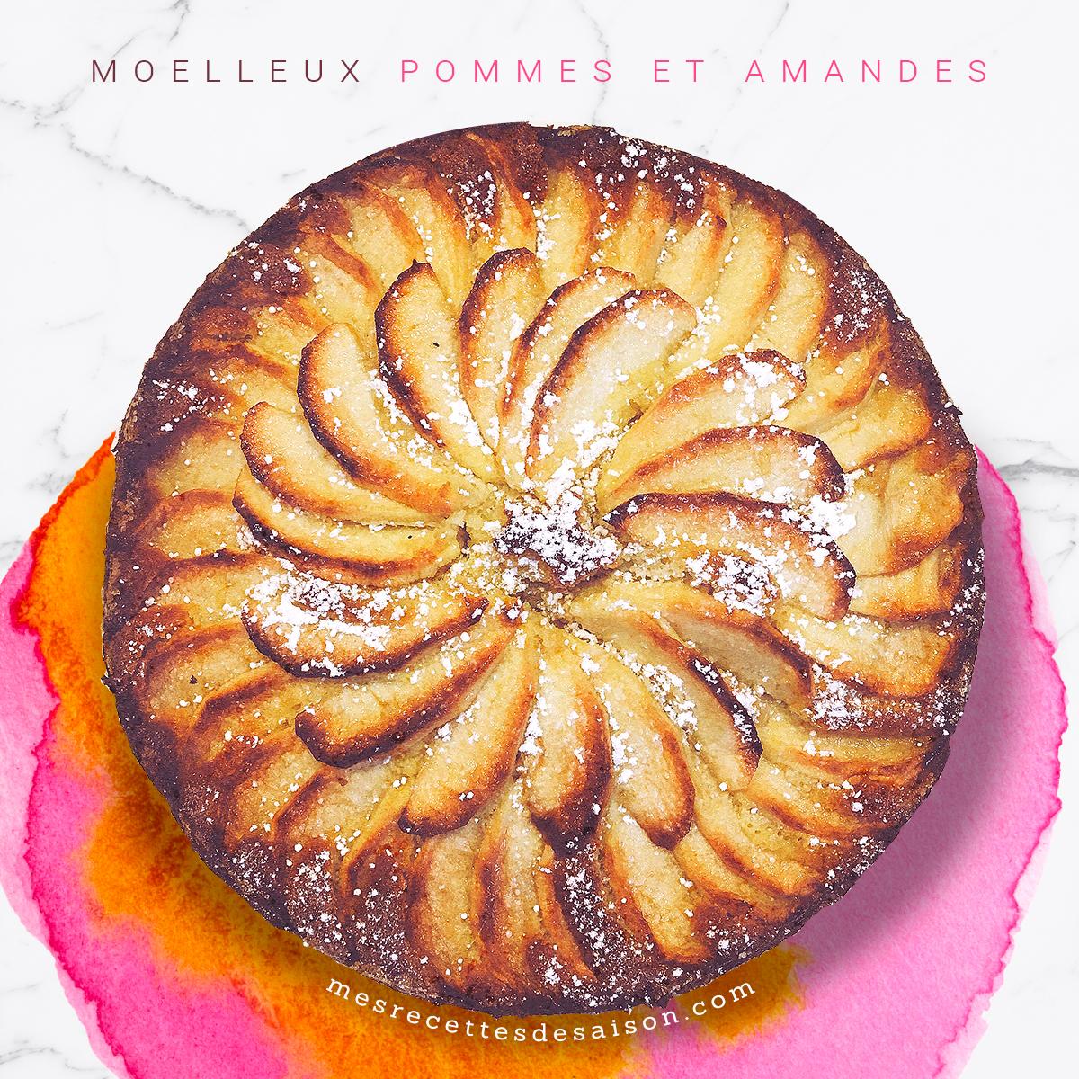 Gâteau moelleux aux pommes et amandes