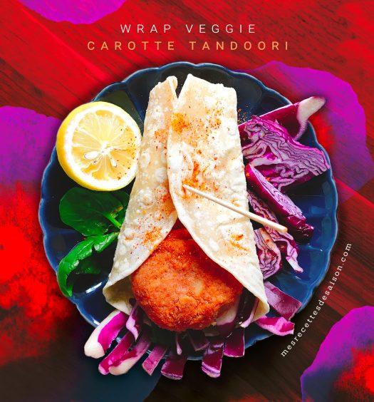 Wrap veggie Carotte tandoori