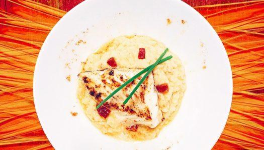 Dos de Cabillaud et sa purée Céleri rave / Chorizo