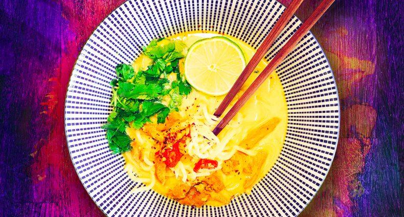 Soupe de noodles Porc / Coco