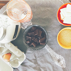 Scones au chocolat : les ingrédients