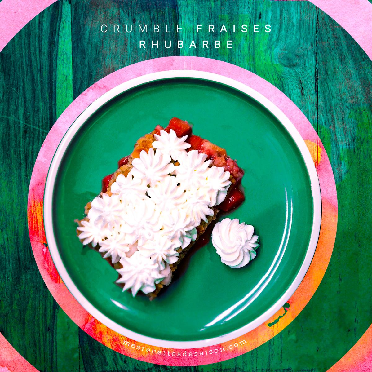 Crumble Fraises / Rhubarbe